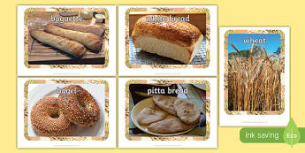 Bread and Wheat Display Photos - EYFS, Early Years, KS1, traditional stories, farm, wheat, bread, chicken, harvest