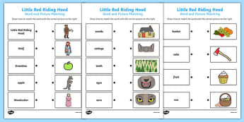 Little Red Riding Hood Word and Picture Match - Little, Red, Word