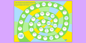 3 Times Table Multiplication And Division Board Game - board game, times table, times tables
