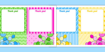 5th Birthday Party Thank You Notes - 5th birthday party, 5th birthday, birthday party, thank you notes