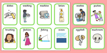 Medial 'sh' Playing Cards -speech sounds, phonology, articulation, speech therapy, dyspraxia