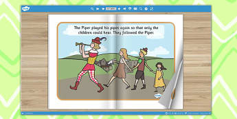 The Pied Piper eBook - book, interactive books, traditional tales