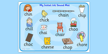 ch Sound Mat - ch sound, sounds, sound mat, ch, visual aid, mat