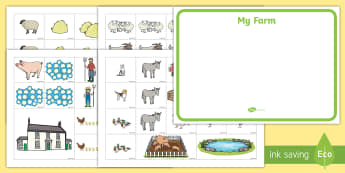 Farm Map Cut and Stick Activity - animals, farmyard, farmer, EYFS, Early Years, KS1, Key Stage 1,