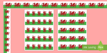Welsh Dragon Display Borders  - welsh dragon border, welsh dragon, welsh, dragon, welsh dragon display border, welsh display border,