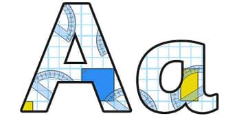 Geometry Lowercase Display Lettering - geometry, geometry display lettering, geometry display letters, geometry alphabet lettering, geometry themed letters