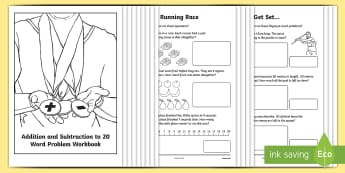 Adding and Subtracting Olympic Themed Activity Booklet - australia, maths, mathematics, numeracy, addition, subtraction, add, subtract, word problems, activi