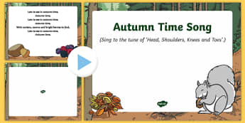 Autumn Time Song PowerPoint