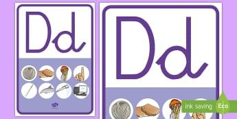 Póster: La letra D - lecto, leer, lectura, sonidos, letra , lecto-escritura, letra d, sonidos, fónemas,Spanish