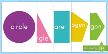 2D Shapes Display Cut-Outs - Common Core Math, 2 d shapes, geometry