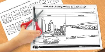 Town and Country Where Does It Belong Activity Sheet - activity, worksheet