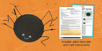 Paper Plate Spider EYFS Adult Input Plan And Craft Pack