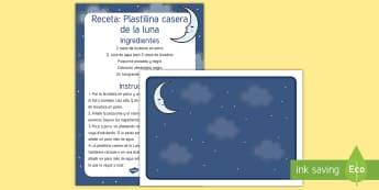 Receta: Plastilina casera de la Luna Receta sensorial - receta, receta sensorial, sentidos, plastilina, plastilina casera,Spanish