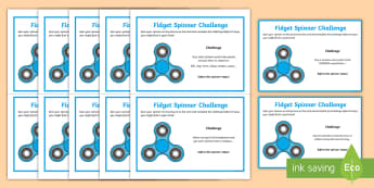 KS2 Fidget Spinner SPaG Challenge Cards - Spelling, punctuation, grammar, activity, revision, timed