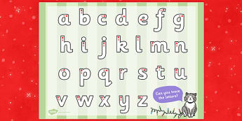 Christmas Cat Themed Letter Writing Worksheet - christmas cat, mog, letter writing