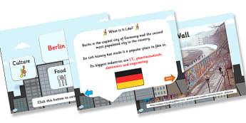 Berlin Information PowerPoint - berlin, berlin powerpoint, german capital, capital of germany, capital cities, information about berlin, germany, places