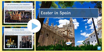 Easter in Spain Information and Quiz PowerPoint - Spring, Easter, KS3, Spanish, quiz, powerpoint, information