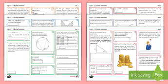 Foundation, Higher 5-7 and Higher 7-9 Activity Mat - Revision, Consolidation, Problem Solving, Test, revision, revise, review, variety, varied, mix