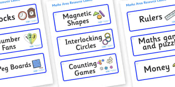 Snowflake Themed Editable Maths Area Resource Labels - Themed maths resource labels, maths area resources, Label template, Resource Label, Name Labels, Editable Labels, Drawer Labels, KS1 Labels, Foundation Labels, Foundation Stage Labels, Teaching L