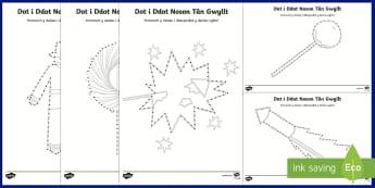 Pecyn Dot i Ddot Noson Tân Gwyllt