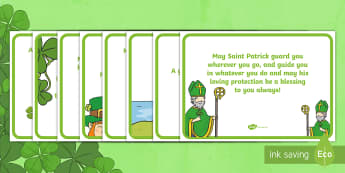 St. Patrick's Day Quotations and Blessings Display Posters - ROI, St. Patrick's Day Resources, bless, blessing, prayer, saying, proverb, wish, quote,Irish