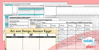 PlanIt - Art UKS2 - Ancient Eygpt Unit Assessment Pack - planit, art, uks2, ancient egypt, unit, assessment, pack