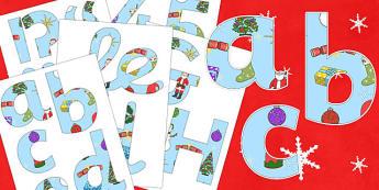 Merry Christmas Display Lettering - Christmas, xmas, Display lettering, display letters, alphabet display, letters to cut out, letters for displays, coloured letters, coloured display, coloured alphabet, tree, advent, nativity, santa, father christma
