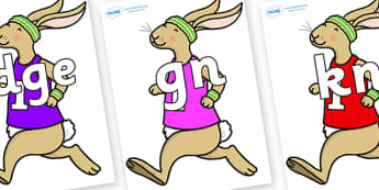 Silent Letters on Running Hare - Silent Letters, silent letter, letter blend, consonant, consonants, digraph, trigraph, A-Z letters, literacy, alphabet, letters, alternative sounds