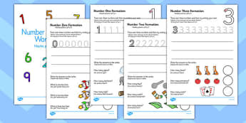 Number Formation Workbook Polish Translation - maths, numeracy, writing, fine motor skills, pd, KS1, key stage 1, early years