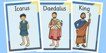 Icarus Display Posters - icarus, display, posters, greek, myth