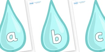 Phoneme Set on Water Drops - Phoneme set, phonemes, phoneme, Letters and Sounds, DfES, display, Phase 1, Phase 2, Phase 3, Phase 5, Foundation, Literacy