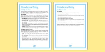 Newborn Baby Sleep Guide - Baby, sleep, routine, babies, parents, new parents, sleeping, nap, naps, advice