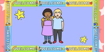 Welcome Display Border - welcome display, class display, border