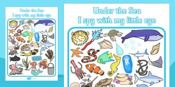 Under the Sea Themed I Spy With My Little Eye Activity - I spy