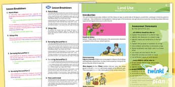 PlanIt - Geography LKS2 - Land Use Planning Overview CfE - planit, planning, overview
