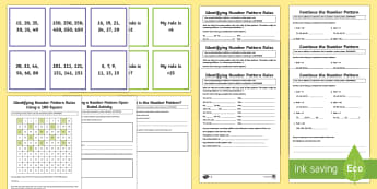 Year 3 Number Patterns Resource Pack - Australian Curriculum Number and Algebra,  number, number pattern, addition, subtraction, describe a