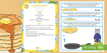 Addition Playdough Recipe and Mat Pack - Mr Wolf's Pancakes, pancake day, Jan Fearnley,