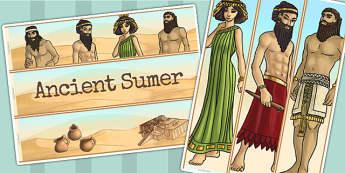 Ancient Sumer Display Borders - sumer, history, borders, iraq