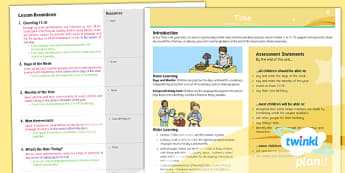 PlanIt - Year 3 French - Time Planning Overview