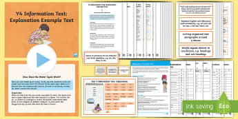 Y4 Information Texts: Explanation Example Text - Example Text, WAGOLL, text analysis, features, genre, text type, writing, explanation, explain, exem