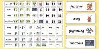 Fairy Tale Adjective Word Cards - fairy tale, fairy, tale, adjective, word cards, word, cards