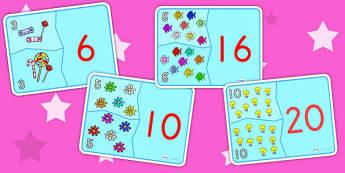 Doubling Matching Activity - math, math games, matching cards