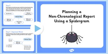 Planning a Non-Chronological Report Using a Spidergram - spidergram