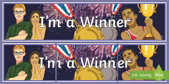 I'm a Winner Banner - Key Stage 4, Entry Level, success, display, celebrate.