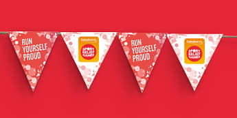 Sport Relief 2016 Bunting Template (Primary and Secondary) - sport relief 2016, bunting