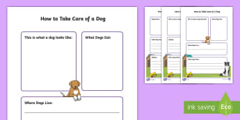 How to Take Care of a Dog Fact File  - Pets, pet, EYFS, KS1, take, care, look, after, family, member, members, vet, vet surgery, surgery, i