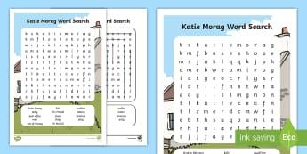 Katie Word Search - Requests CfE, Katie Morag, Katie Morag word search, activities for Katie Morag, Mairi Hedderwick boo