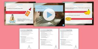 KS3 Using Commas PowerPoint Lesson Teaching PowerPoint Pack - Using Commas Powerpoint Task Setter Activity Pack - punctuation, puntuation, punctatuion, puncuation