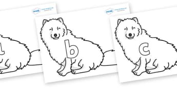 Phase 2 Phonemes on Arctic Foxes - Phonemes, phoneme, Phase 2, Phase two, Foundation, Literacy, Letters and Sounds, DfES, display