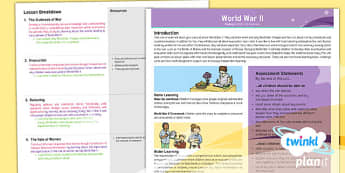 PlanIt History UKS2 World War II Planning Overview